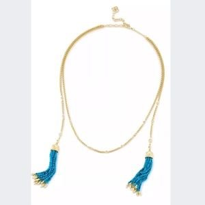 Kendra Scott gold and turquoise Monique necklace